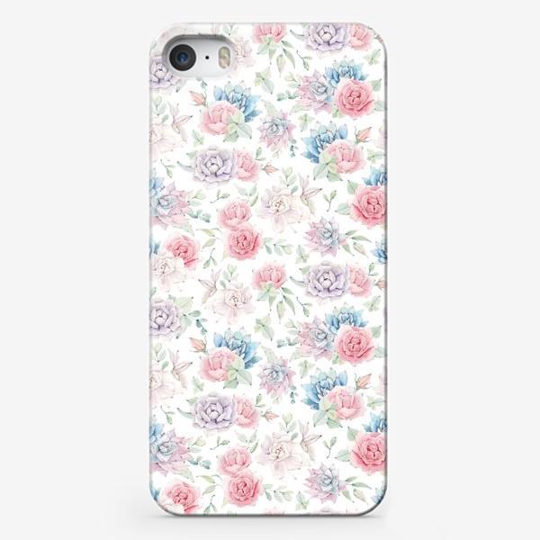 Чехол iPhone «Нежность и суккуленты»