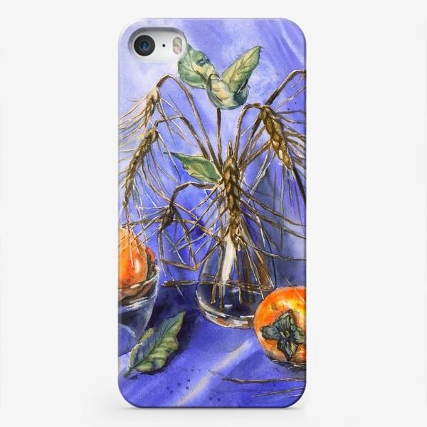 Чехол iPhone «Натюрморт с хурмой и пшеницей»