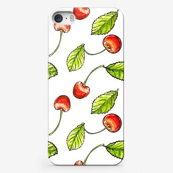 Чехол iPhone «вишня»