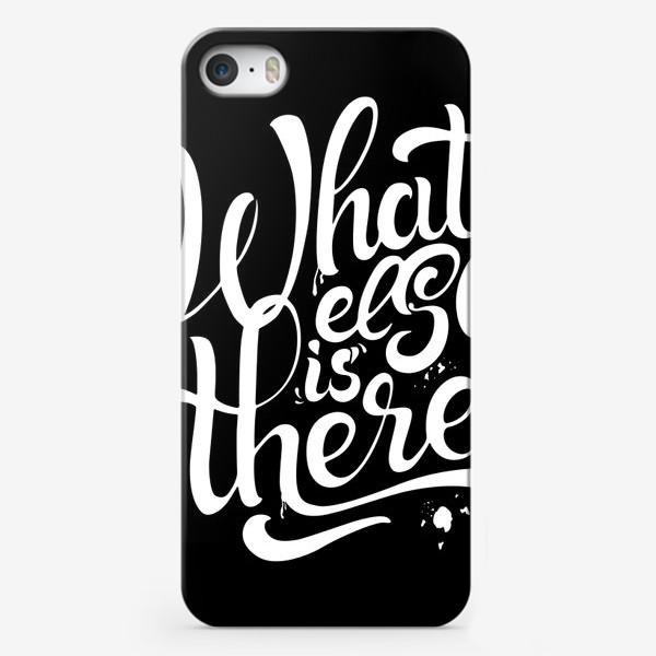 Чехол iPhone «Ну что ещё? Леттеринг»