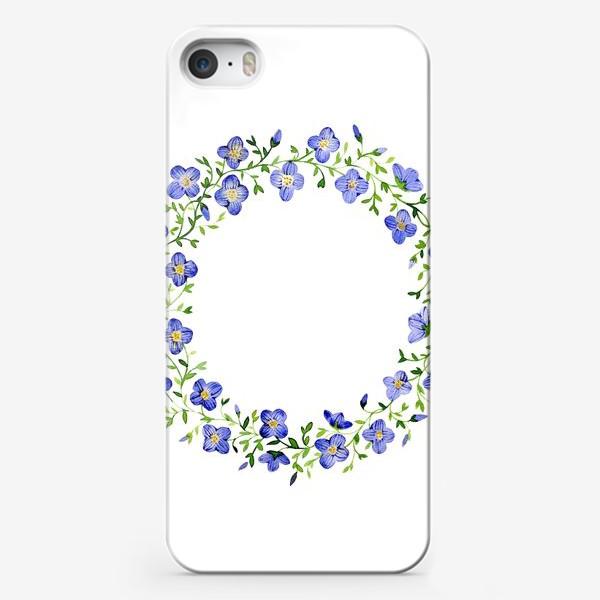 Чехол iPhone «Венок из нежных цветов»