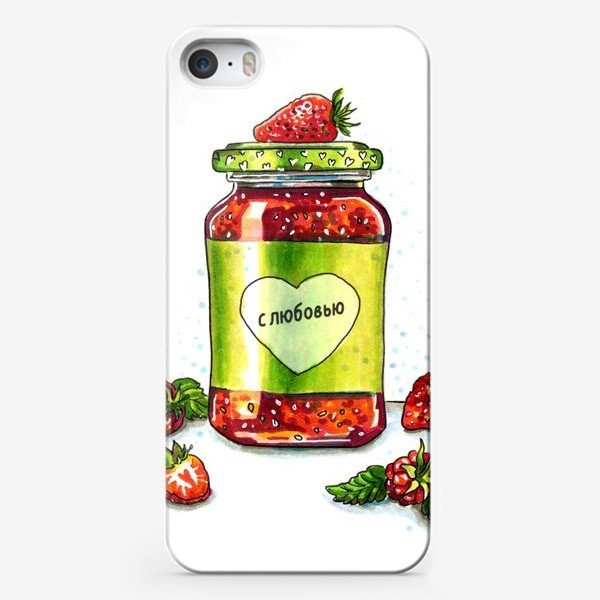 Чехол iPhone «КЛУБНИЧНОЕ ВАРЕНЬЕ»