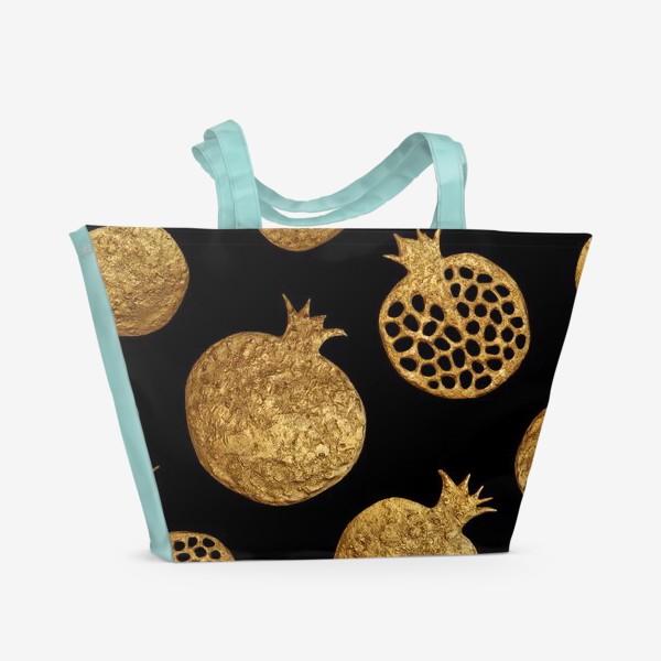 Пляжная сумка «Золотые гранаты»