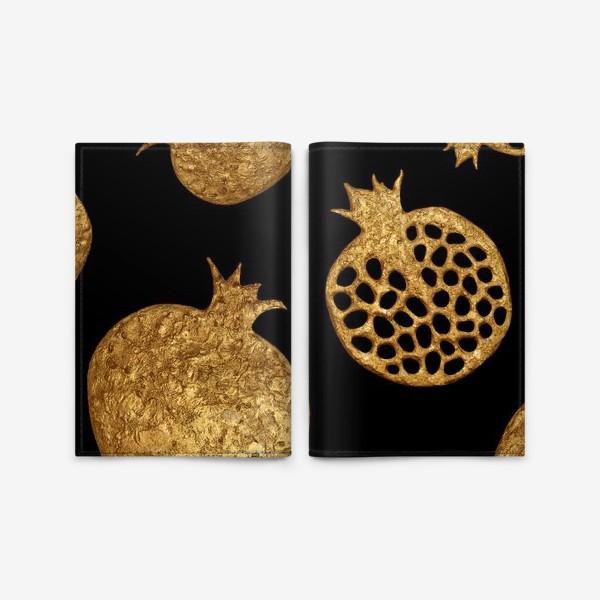 Обложка для паспорта «Золотые гранаты»