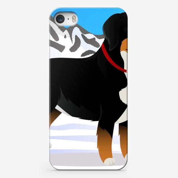 Чехол iPhone «Бернский Зенненхунд спасатель»