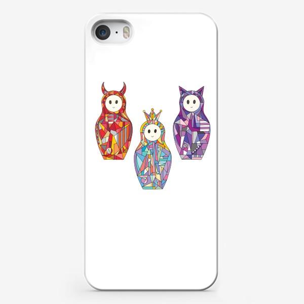 Чехол iPhone «Матрешки аниме»