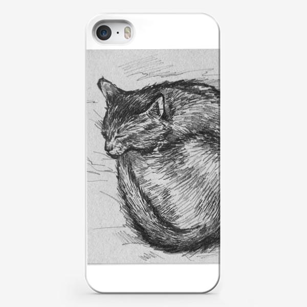 Чехол iPhone «спящая кошка»