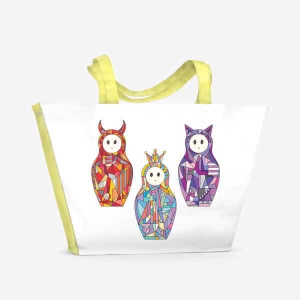 Пляжная сумка «Матрешки аниме»
