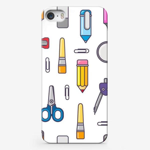 Чехол iPhone «Канцелярские вещицы»