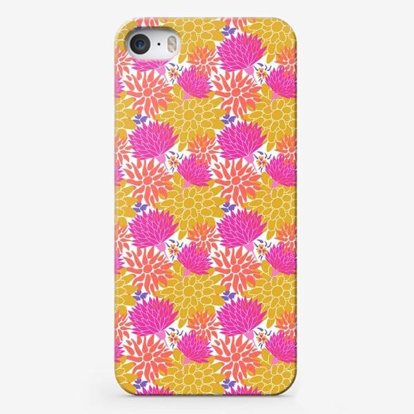 Чехол iPhone «Цаеточный графический узор паттерн »