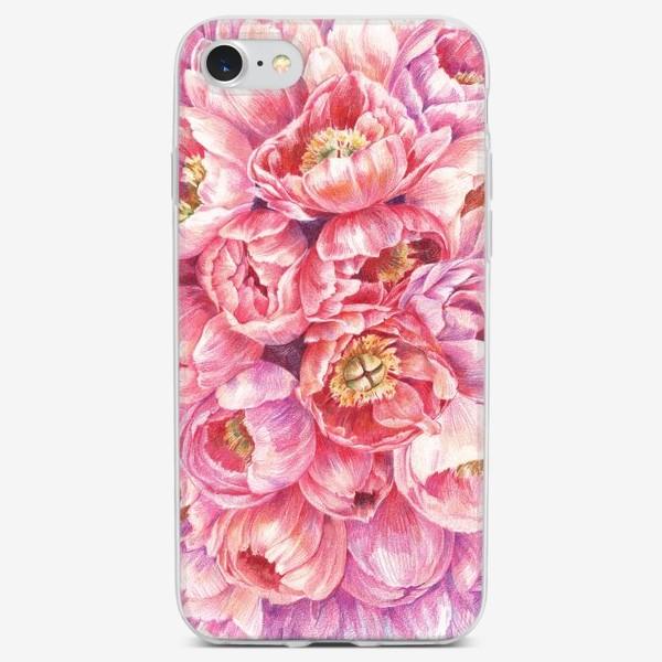 Чехол iPhone «Коралловые пионы»