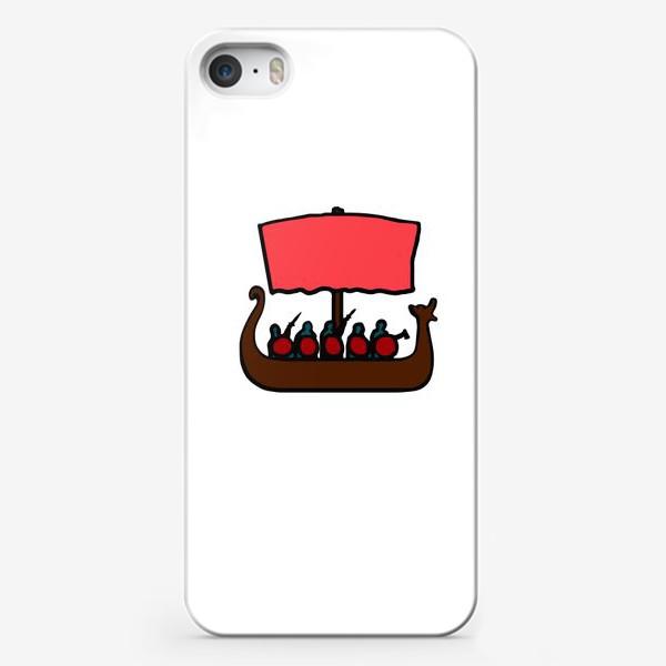 Чехол iPhone «Драккар - корабль викингов, символ Скандинавии»