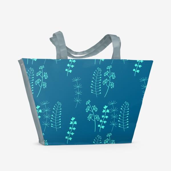Пляжная сумка «Травки»