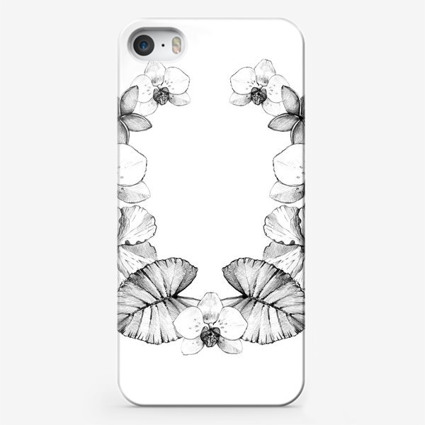 Чехол iPhone «Тропический венок. Графика »