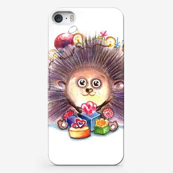 Чехол iPhone «Новогодний Ёж»