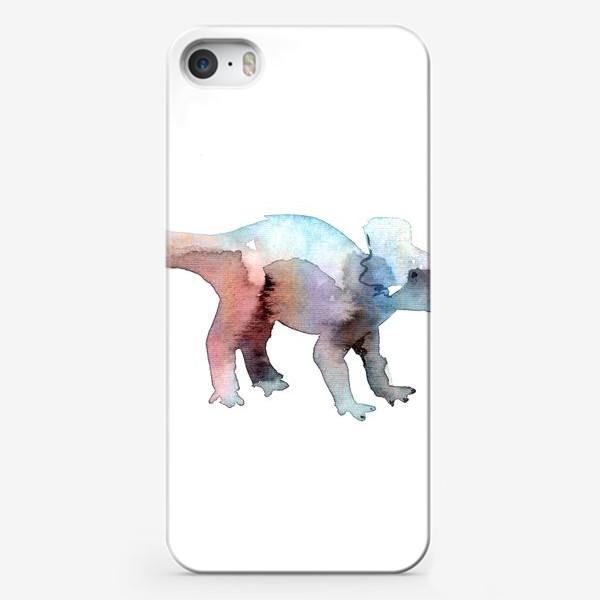 Чехол iPhone «Динозаврик акварельный.»
