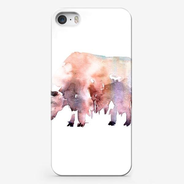 Чехол iPhone «Тибетский бык. Акварельная серия животных»