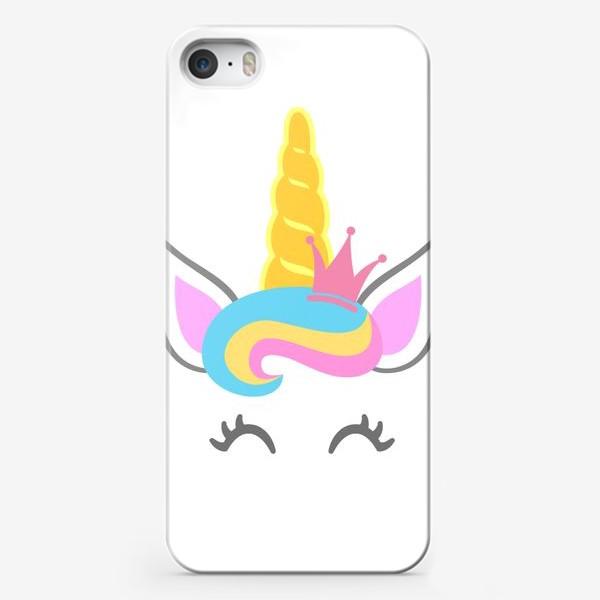 Чехол iPhone «Little unicorn with crown»