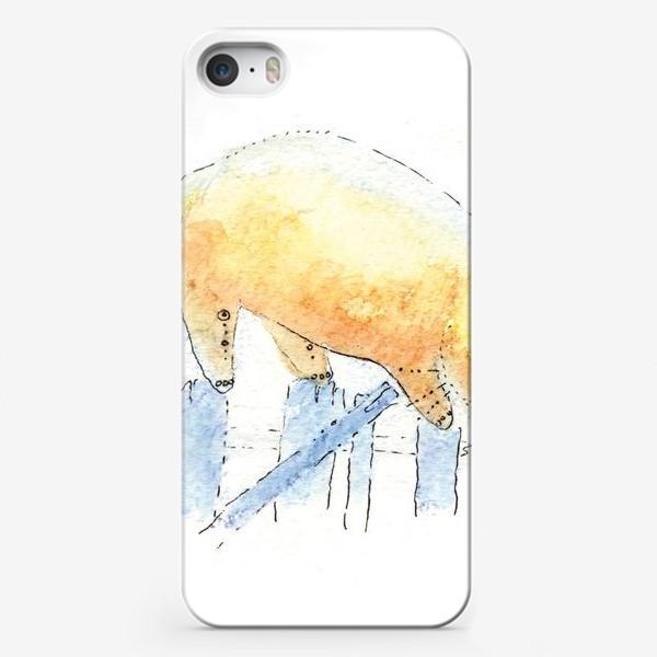 Чехол iPhone «Котик на заборе»