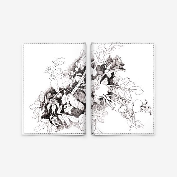 Обложка для паспорта «Шиповник »