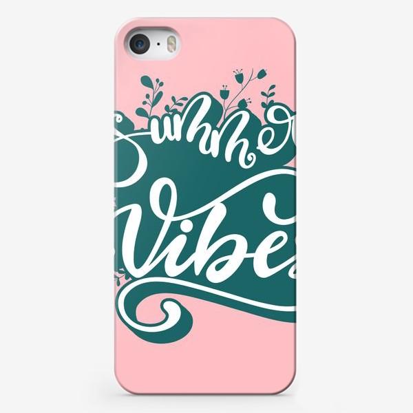 Чехол iPhone «Lettering design Summer Vibes»