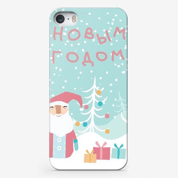 Чехол iPhone «Открытка Деда Мороза»