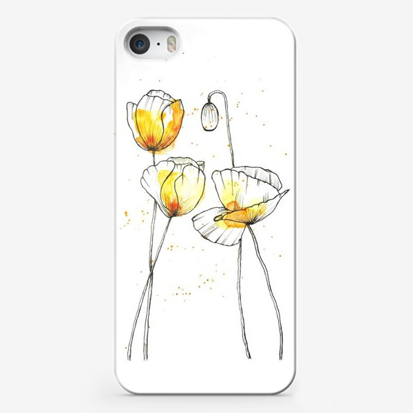 Чехол iPhone «Желтые маки»