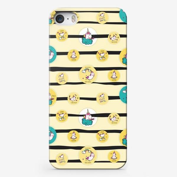 Чехол iPhone «Веселые единороги »