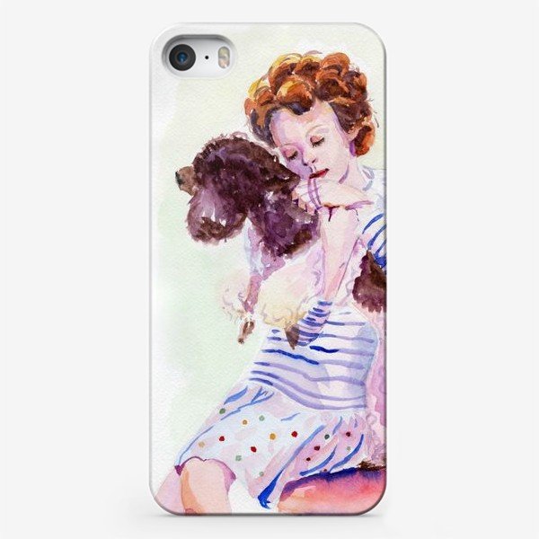 Чехол iPhone «Девочка с пуделем»