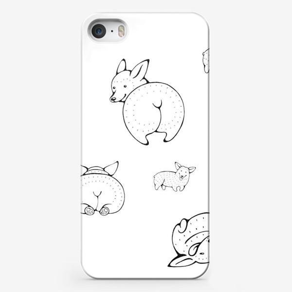 Чехол iPhone «веселые корги»