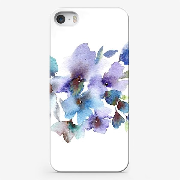 Чехол iPhone «Blue flowers»