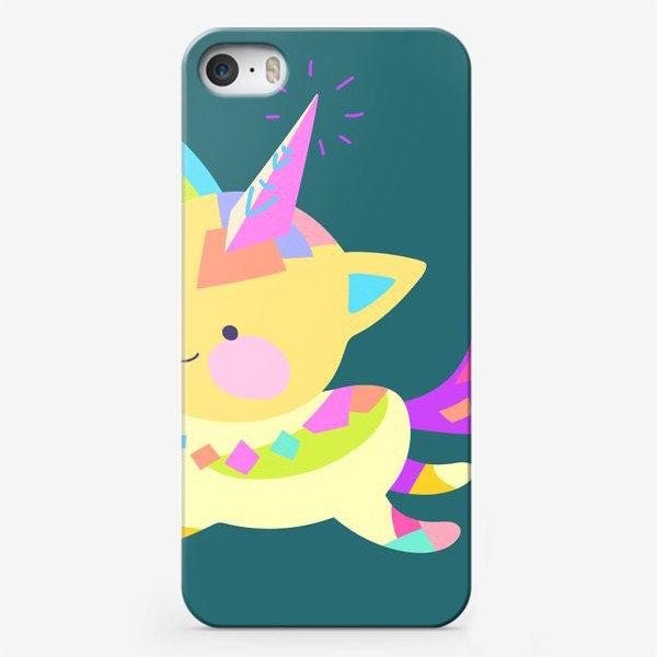 Чехол iPhone «Маленький котик единорог»