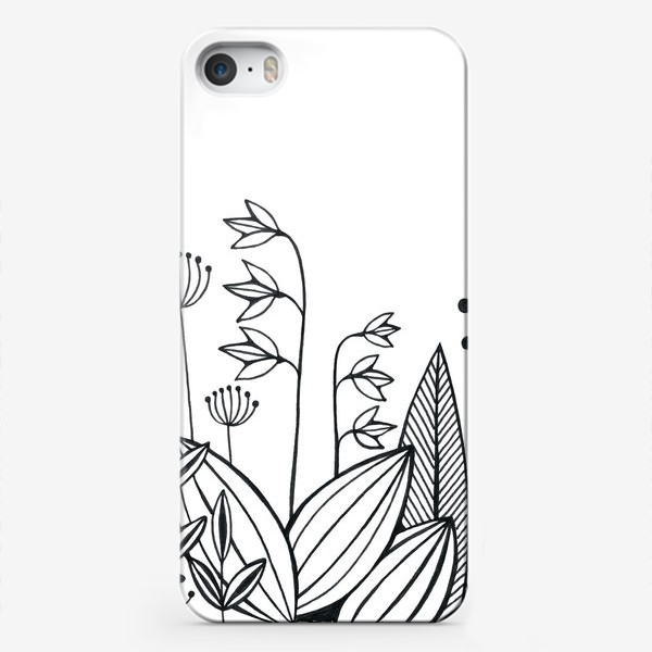 Чехол iPhone «графика цветы»