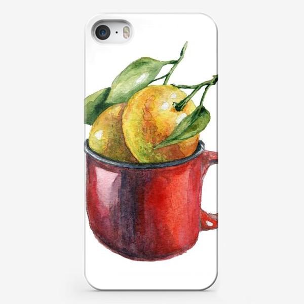 Чехол iPhone «Мандаринки акварель»