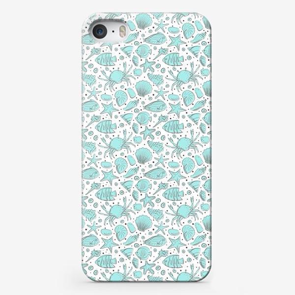 Чехол iPhone «Морское дно в голубом цвете»