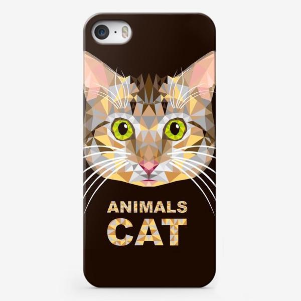 Чехол iPhone «Полигональный котик. Lowe poly cat»