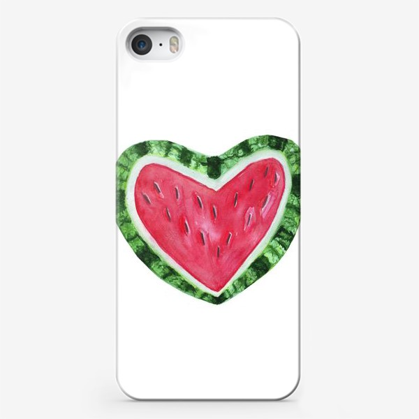 Чехол iPhone «арбузное сердце лета»