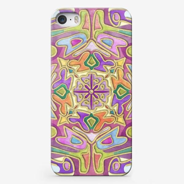 Чехол iPhone «Именная мандала Катюша»