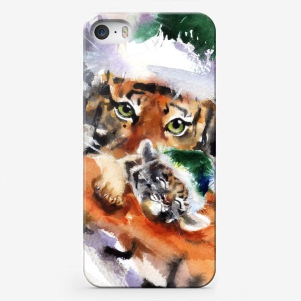 Чехол iPhone «ТИГР С ТИГРЕНКОМ»