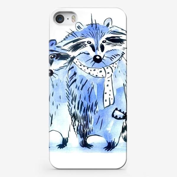 Чехол iPhone «friends the raccoons musicians»