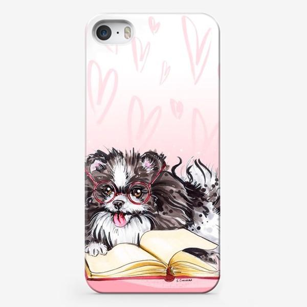 Чехол iPhone «Умный пес - шпиц»