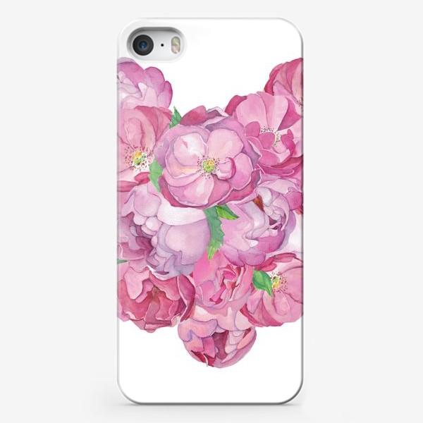 Чехол iPhone «Pink Flower Heart»