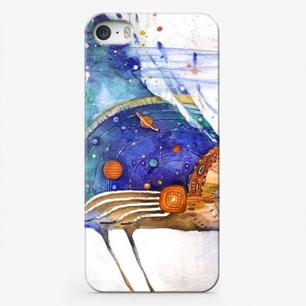 Чехол iPhone «Космический Ворон, индейский шаман»