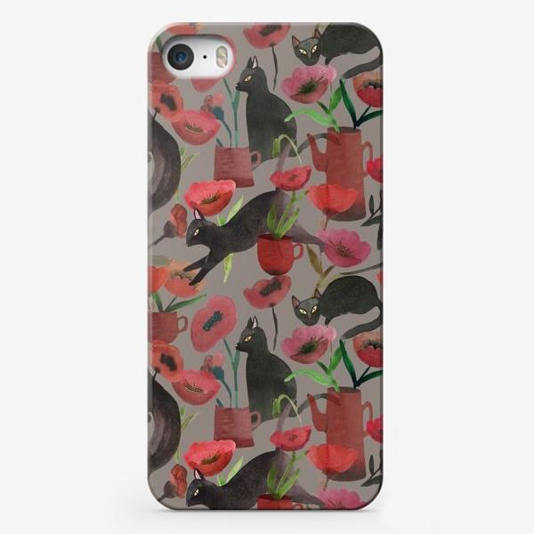 Чехол iPhone «кошки и маки»
