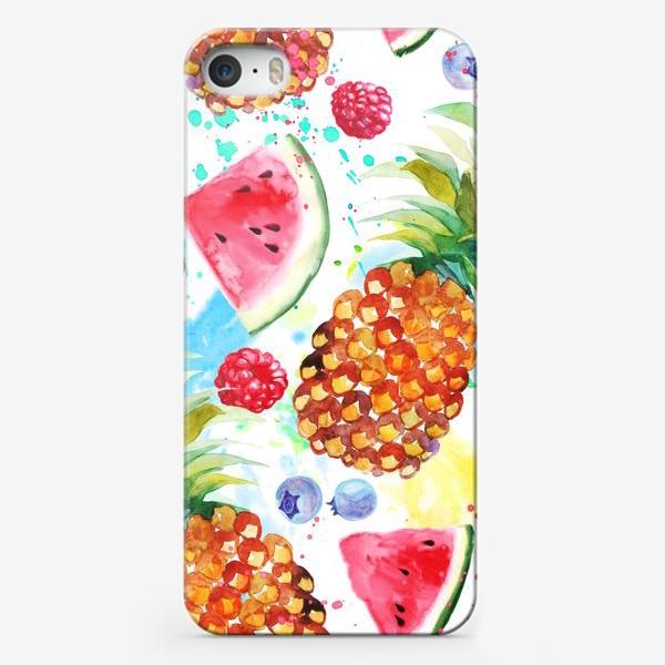 Чехол iPhone «Ананасы и арбузы»