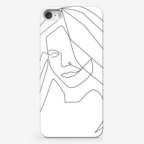 Чехол iPhone «Девушка с длинными волосами»