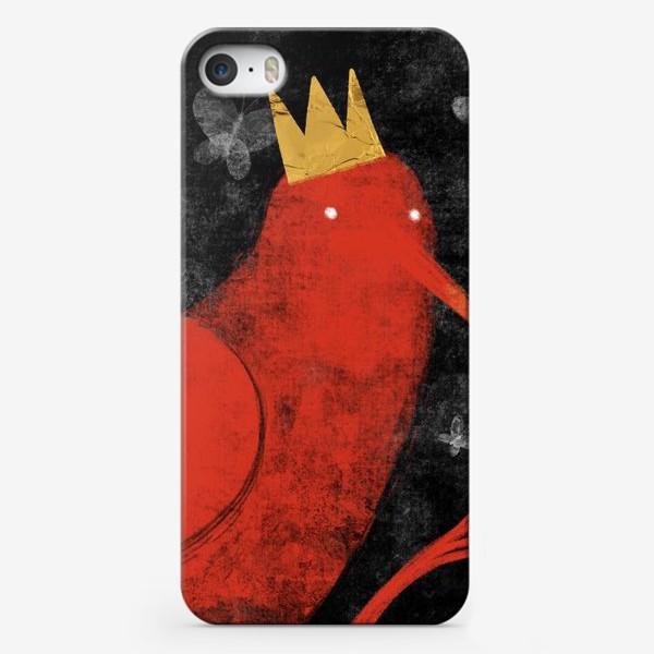 Чехол iPhone «Птица в короне»