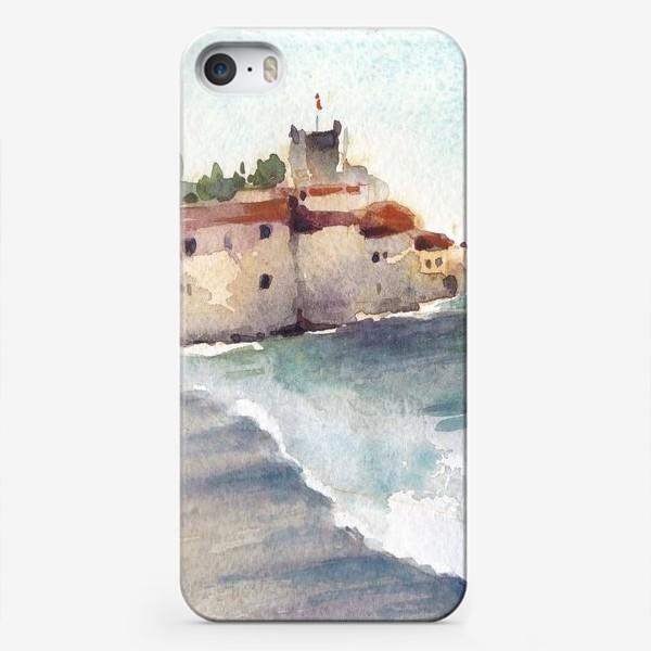 Чехол iPhone «Крепость и море. Старый город в Будве. Черногорская серия.»