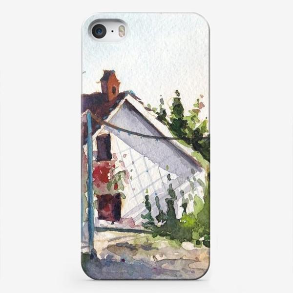 Чехол iPhone «Домик в цветах. Черногорская серия.»