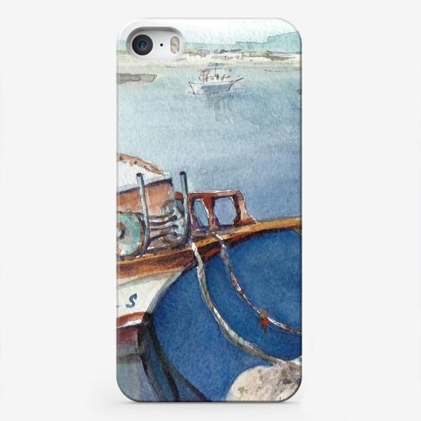 Чехол iPhone «Морской пейзаж с яхтой. Лодочки. »